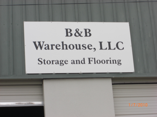 B&B Warehouse Sign
